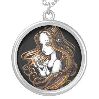 """Seika"" Amber Rose Angel Necklace"