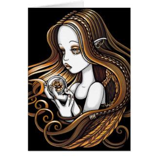 """""""Seika"""" Amber Rose Crystal Ball Angel Card"""