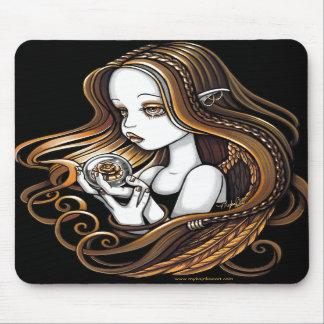 """""""Seika"""" Amber Rose Crystal Ball Angel Mousepad"""