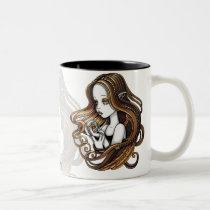 seika, crystal, ball, rose, amber, angel, faery, faerie, fae, elf, fantasy, myka, jelina, angels, Mug with custom graphic design