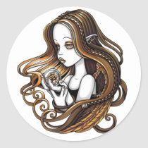 seika, crystal, ball, rose, amber, angel, faery, faerie, fae, elf, fantasy, myka, jelina, angels, Sticker with custom graphic design