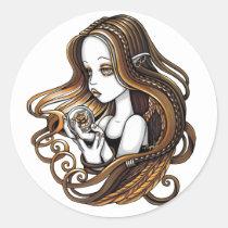 seika, crystal, ball, rose, amber, angel, faery, faerie, fae, elf, fantasy, myka, jelina, angels, Sticker with custom graphic design
