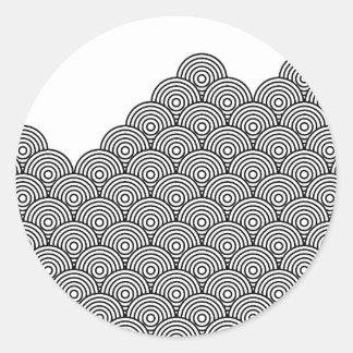 Seikai dissension (black) classic round sticker
