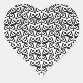 Seikai dissension (black) heart sticker
