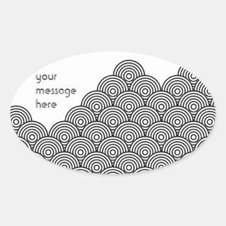 Seikai dissension (black) oval sticker