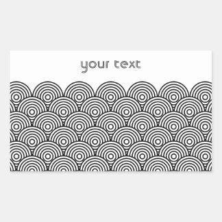 Seikai dissension (black) rectangular sticker