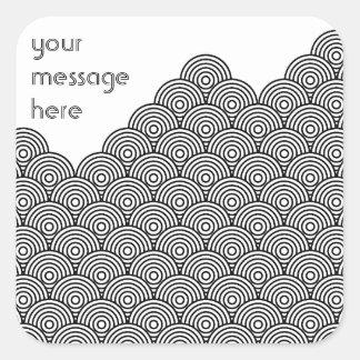 Seikai dissension (black) square sticker
