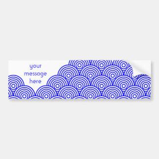 Seikai dissension (blue color) bumper sticker