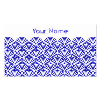 Seikai dissension (blue color) business card templates