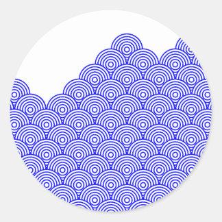 Seikai dissension (blue color) classic round sticker