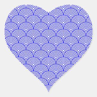 Seikai dissension (blue color) heart sticker