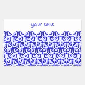 Seikai dissension (blue color) rectangular sticker