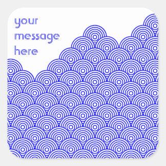 Seikai dissension (blue color) square sticker