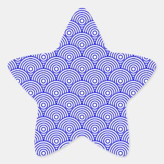 Seikai dissension (blue color) star sticker