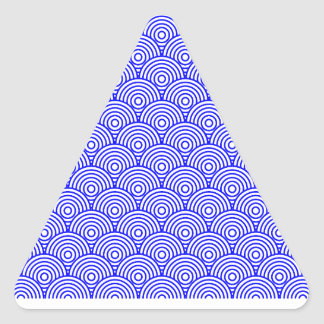 Seikai dissension (blue color) triangle sticker