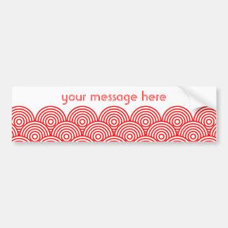 Seikai dissension (red) bumper sticker