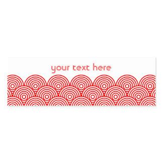 Seikai dissension (red) business card templates