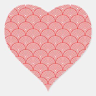 Seikai dissension (red) heart sticker