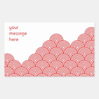 Seikai dissension (red) rectangular sticker