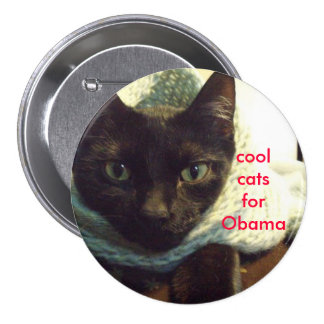 Seimei- Cool Cats for Obama Button
