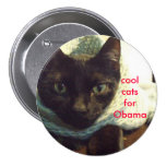 Seimei- Cool Cats for Obama Buttons