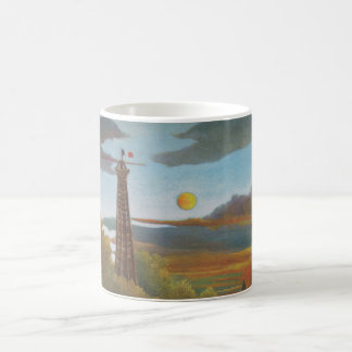 Seine and Eiffel Tower at Sunset by Henri Rousseau Coffee Mug
