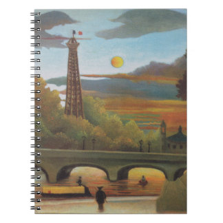 Seine and Eiffel Tower at Sunset by Henri Rousseau Notebook