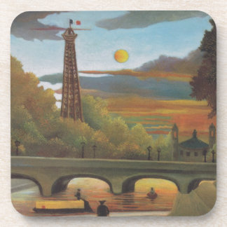 Seine and Eiffel tower in the sunset by Henri Rous Coaster