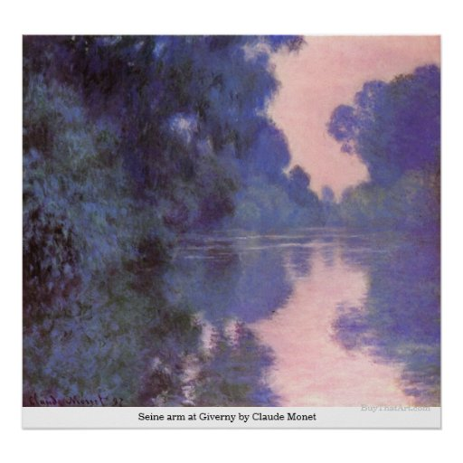 Seine arm at Giverny by Claude Monet Poster