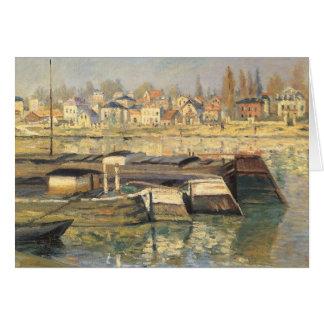 Seine at Asnieres by Claude Monet, Impressionism Card
