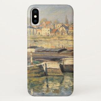 Seine at Asnieres by Claude Monet, Impressionism iPhone X Case