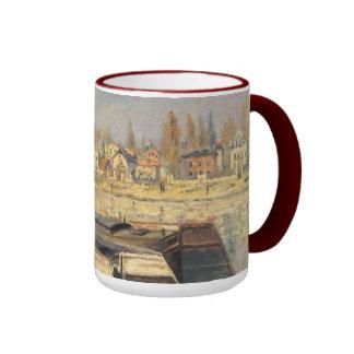Seine at Asnieres by Monet, Vintage Impressionism Coffee Mug