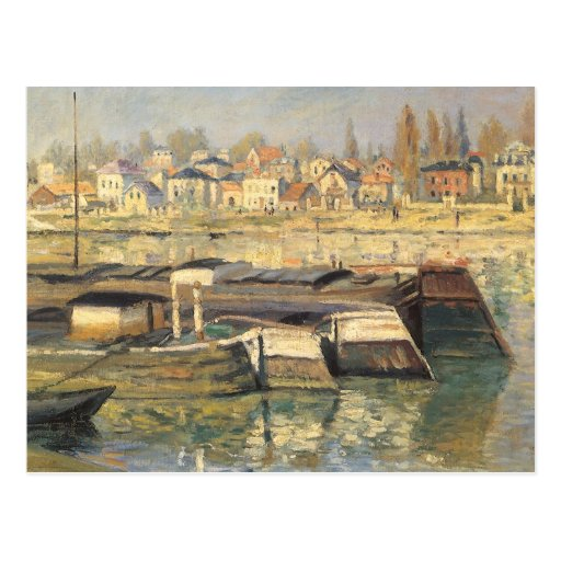 Seine at Asnieres by Monet, Vintage Impressionism Post Cards