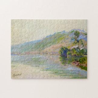 Seine at Port-Villez Clear Weather Monet Fine Art Jigsaw Puzzle