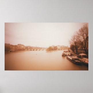 Seine Boats Poster