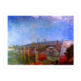 Seine Bridge at Asnières (F240)Van Gogh Fine Art Postcard