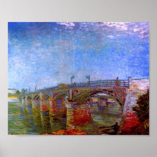 Seine Bridge at Asnières (F240)Van Gogh Fine Art Poster