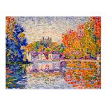 Seine by Paul Signac Postcard