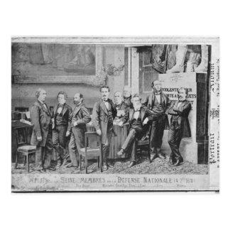 Seine deputies postcard