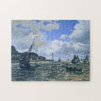 Seine Estuary at Honfleur Monet Fine Art Jigsaw Puzzle