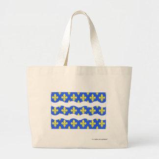 Seine-et-Marne flag Canvas Bags