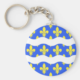 Seine-Et-Marne, France flag Basic Round Button Keychain