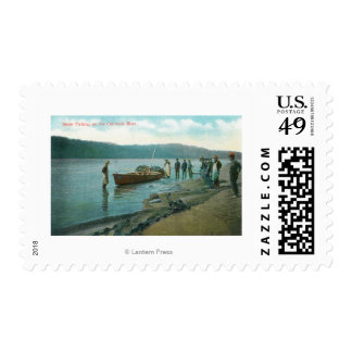 Seine Fishing on the RiverColumbia River, OR Stamps