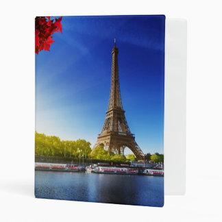 Seine In Paris With Eiffel Tower In Autumn Time Mini Binder