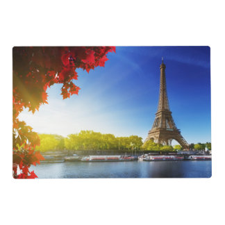 Seine In Paris With Eiffel Tower In Autumn Time Placemat