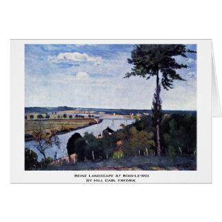 Seine Landscape At Bois-Le-Roi Greeting Card