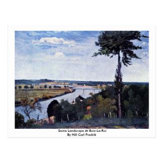 Seine Landscape At Bois-Le-Roi Post Card