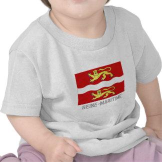 Seine-Maritime flag with name T Shirt