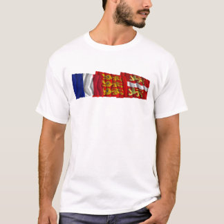 Seine-Maritime, Haute-Normandie & France flags T-Shirt