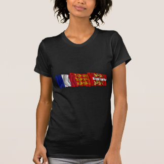 Seine-Maritime, Haute-Normandie & France flags Tshirts